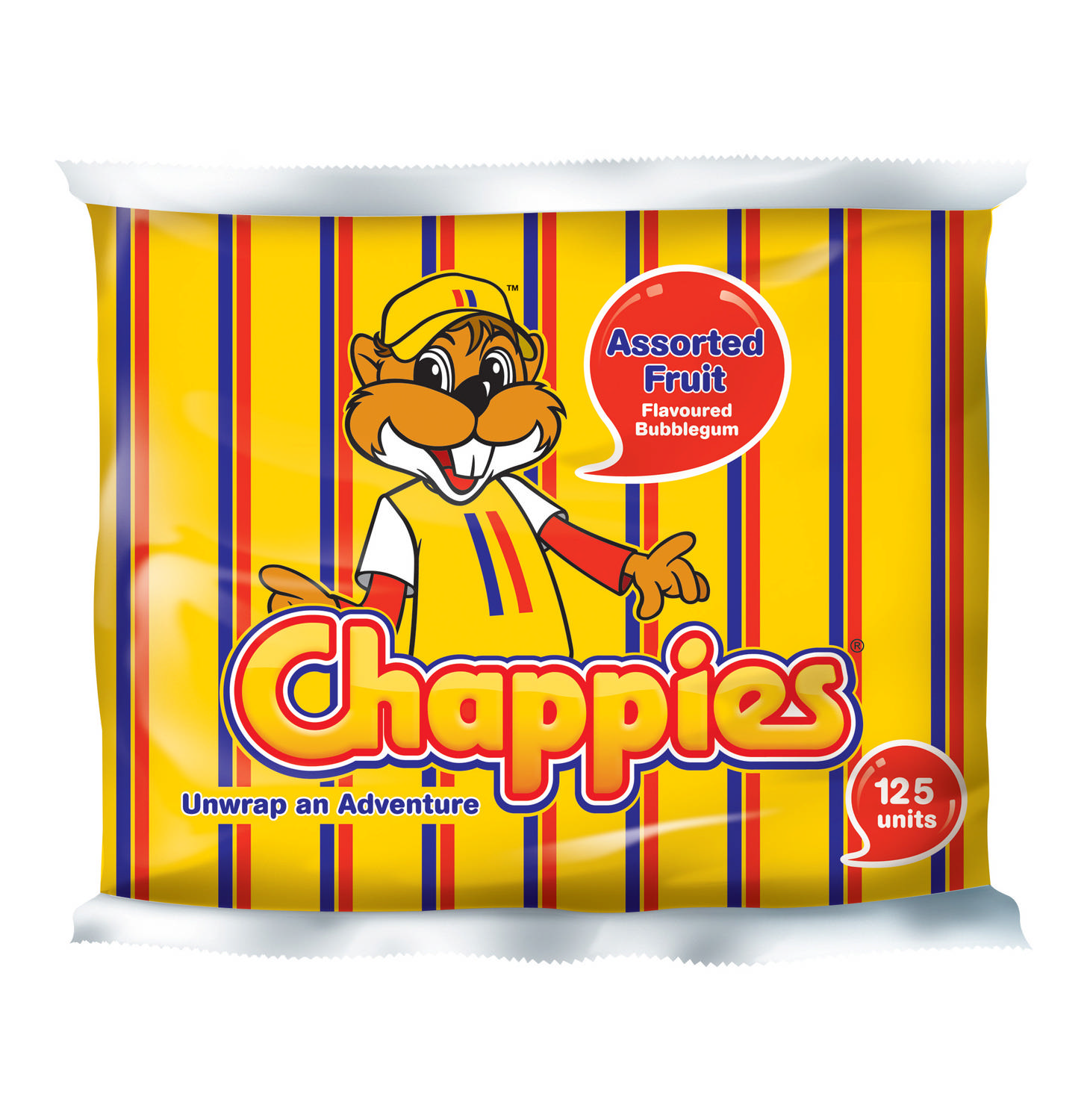 Chappies Fruit Bubblegu 125pc