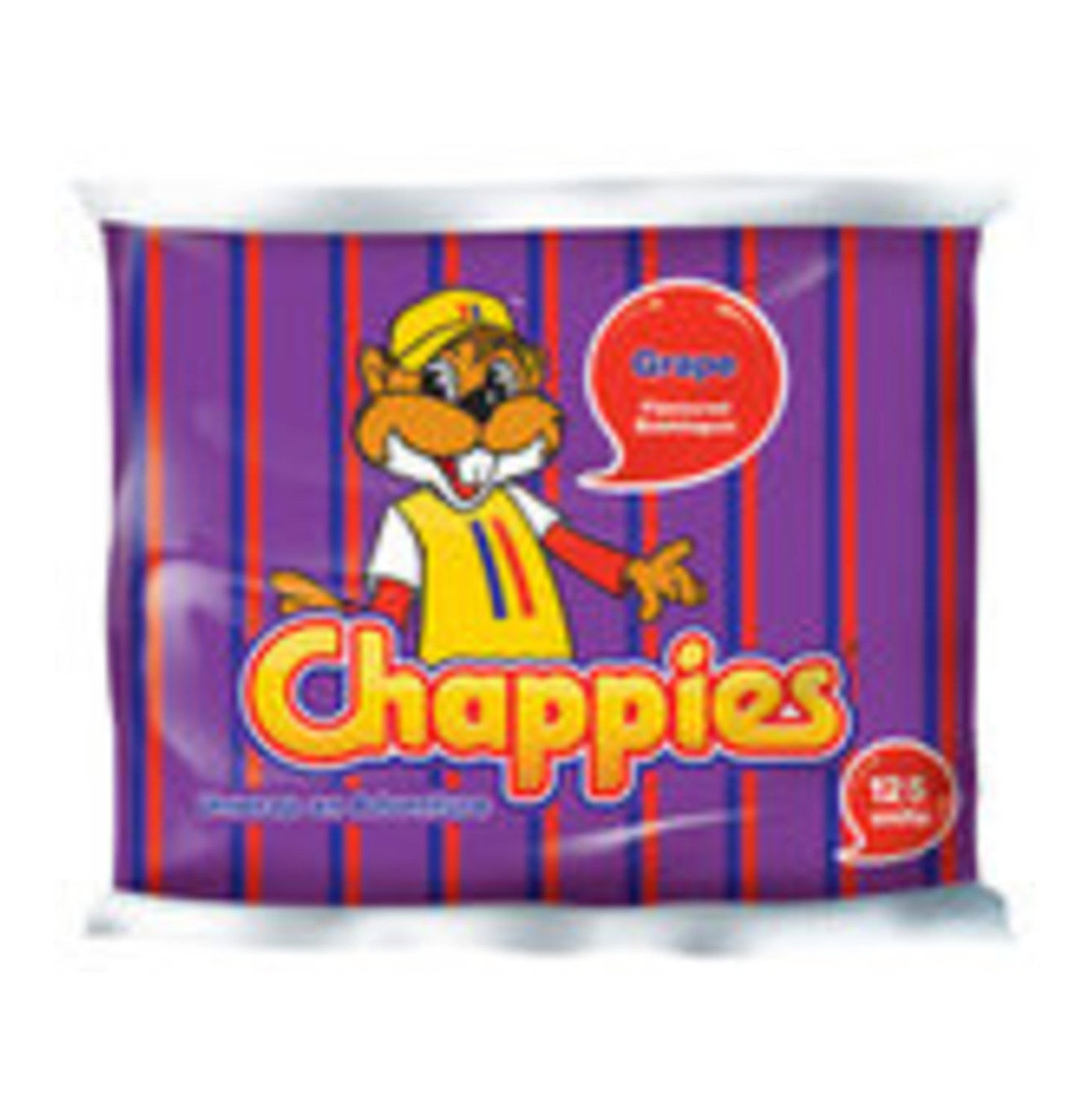 Chappies Grape Bubbleg. 125pc