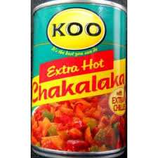 Koo Chakalaka XHot with extra chillies
